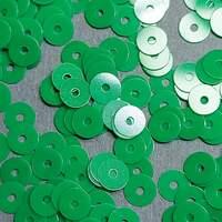 Паєтки Італія плоскі 4мм 3г фарфорові  Verde