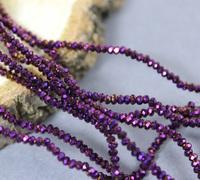 Ронделі скляні 1.8*2.4мм, №106 Фіолетовий металік