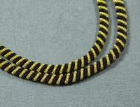 Канітель подвійна спіраль Black/Gold 4мм