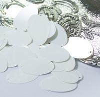 Паєтки Італія Oliva 20*12мм 5г №2 White