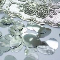 Паєтки Італія Oliva 20*12мм 5г  Silver