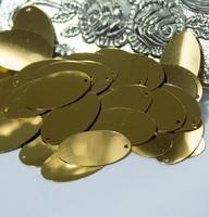Паєтки Італія Oliva 20*12мм 5г №4 Gold