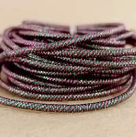 Канітель пружна Mix №05 1.7мм 5г Фіолетовий+Зелений