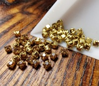 Шатон 4мм колір Smoked Topaz, скло, колір оправи золото