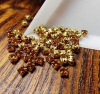 Шатон 4мм колір Coffee, скло, колір оправи золото