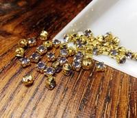 Шатон 4мм колір Tanzanite , скло, колір оправи золото