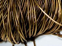 Канітель м'яка гладка Antique Gold 0.7мм 5г